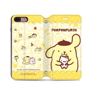 Pom Pom Purin Leather Flip Case (PNCM02)