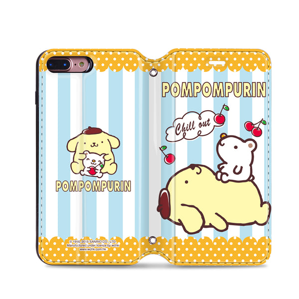 Pom Pom Purin Leather Flip Case (PNCM04)