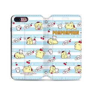 Pom Pom Purin Leather Flip Case (PNCM06)