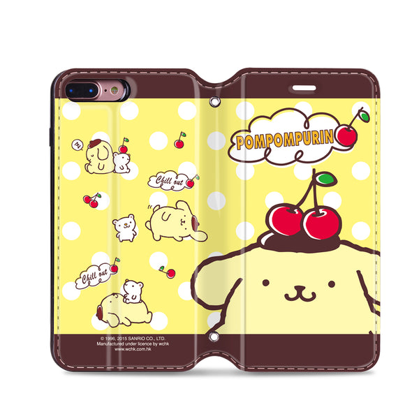 Pom Pom Purin Leather Flip Case (PNCM08)