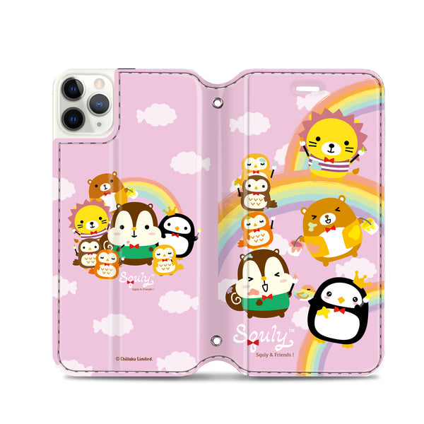 Squly & Friends Leather Flip Case (SNFCM01)