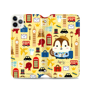 Squly & Friends Leather Flip Case (SNFCM02)