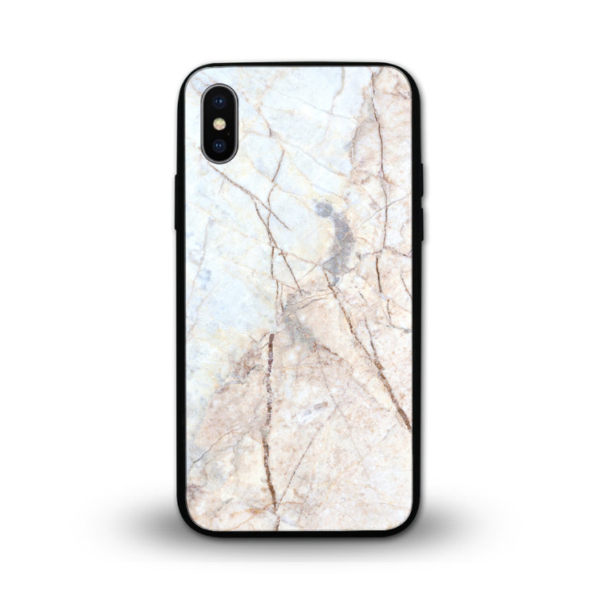 Glossy Graphic Glass Case - White Marble (CMC914)