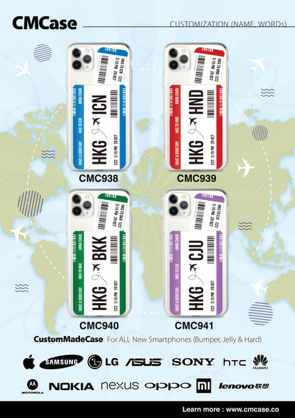 Custom - Travelholic Air Tickets Clear Case (CMC941)