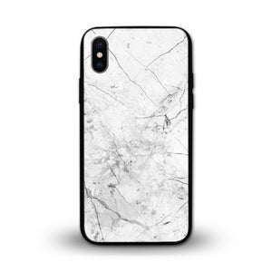 Glossy Graphic Glass Case - White Marble (CMC982)