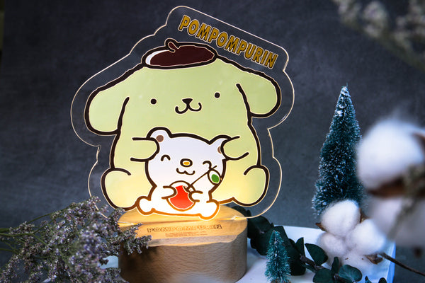 Pom Pom Purin Acrylic LED Lamp (PN81L)