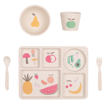 Bamboo Dinner Set - Eat Your Greens