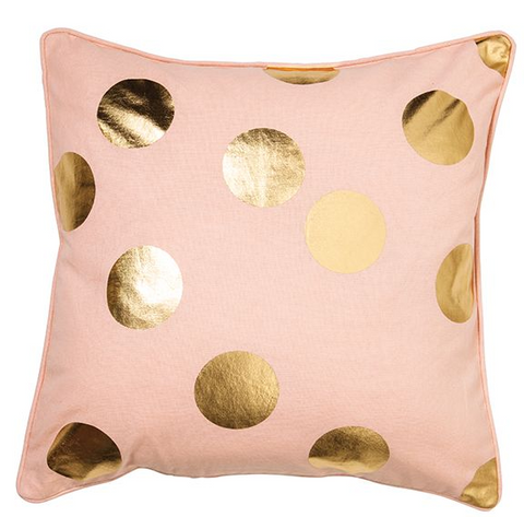 Gold Spot Pink Cusion