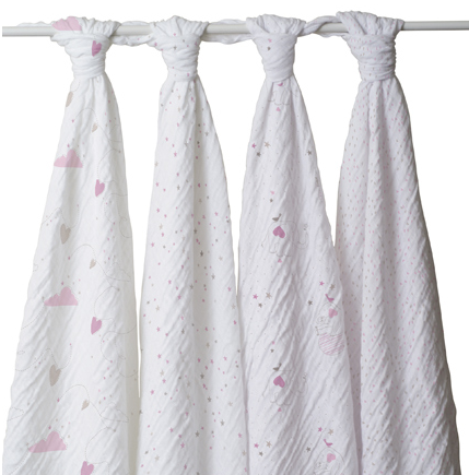 Classic Swaddle 4 Pack 'Lovely'