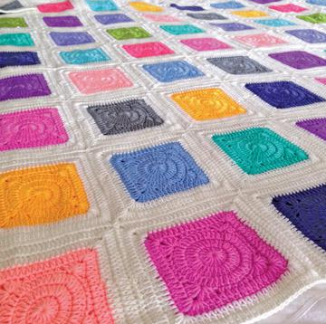 Patchwork Rainbow Blanket