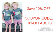 10% OFF coupon code discount sale