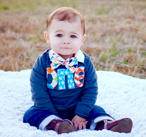 Dapper 1st Birthday shirt Long Sleeve Navy one Birthday Shirt - applique argyle, airplanes, chevron- Boys 1st Birthday