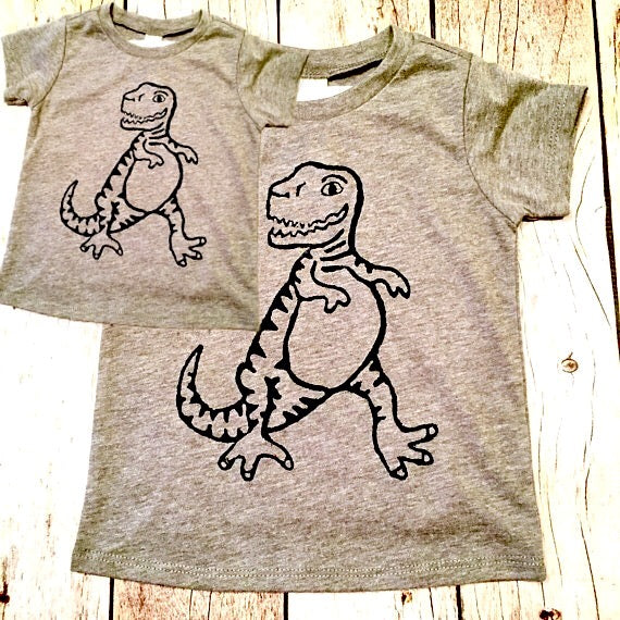 Father son matching set shirt outfit Father's Day dinosaur