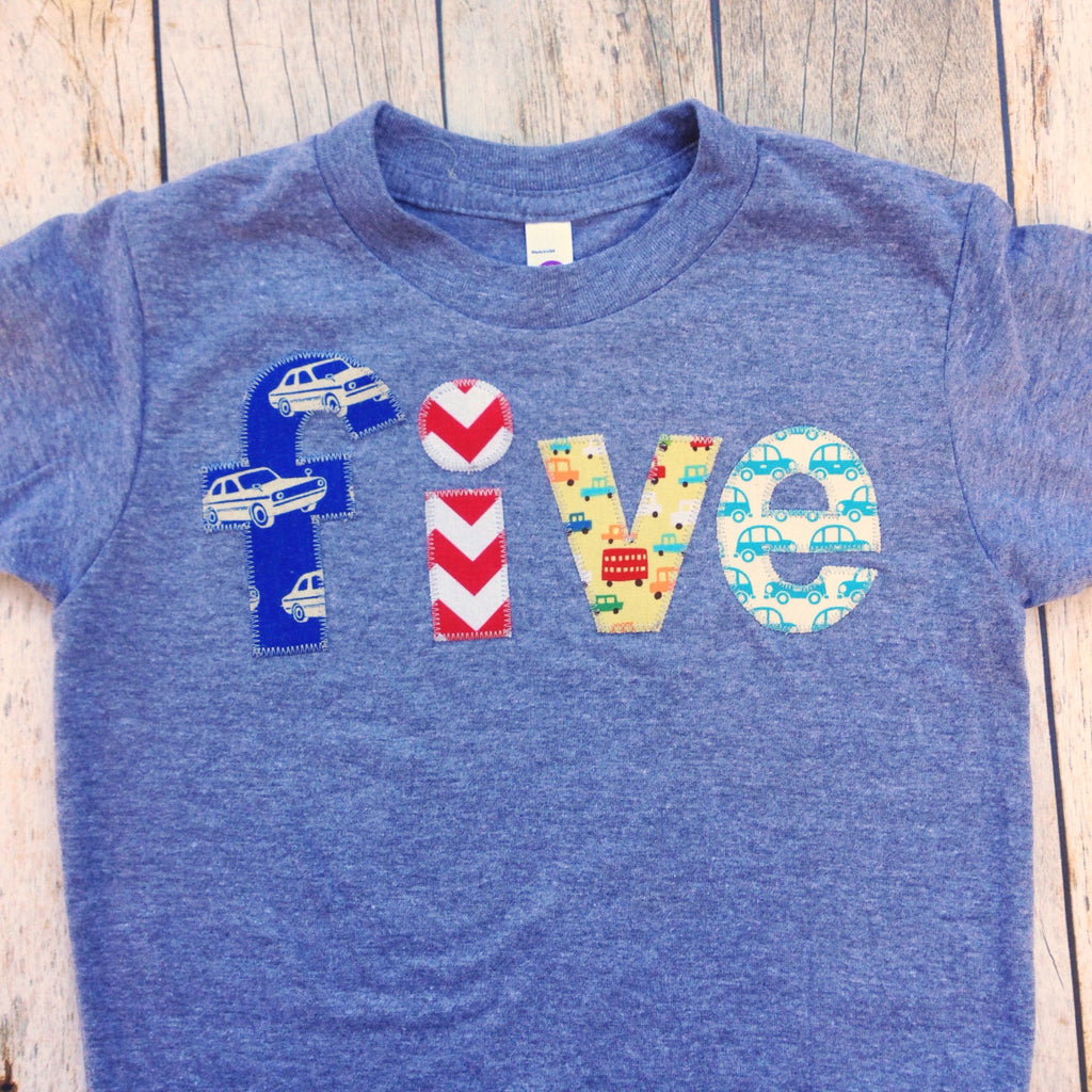 Cars Five Birthday Shirt 5 Years Old 5th Red Chevron Royal Retro