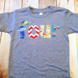 Triblend athletic four 4 years old 4th Birthday Shirt firetruck red chevron fir truck for boys blue grey Birthday