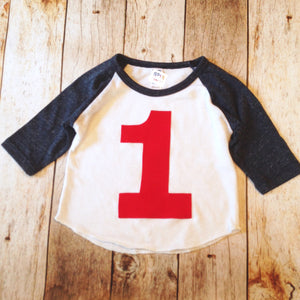 Heathered red and White Birthday Shirts Boys Birthday Shirt 1st Birthday First One Year Old Birthday 1 year old Birthday sports raglan