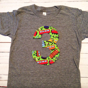 Train birthday outfit Boys Birthday shirt Choo choo Trains ANY Number 1 2 3 4 5 6 year old Birthday Shirt locomotive toy caboose tank engine