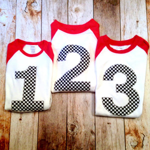 race car birthday shirt, racecar birthday shirt, checkered flag birthday shirt, checker flag, 1st, 2nd, 3rd, 4th, cars, 1, 2, 3, 4, year old