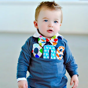 Bright colors one 1st Birthday Shirt kids fall for boy with multi argyle, aqua airplane, orange chevron Boy Party primarty red blue yellow