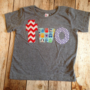 Ready to Ship size 18/24 months -one Birthday Shirt for boys 2nd Birthday trains