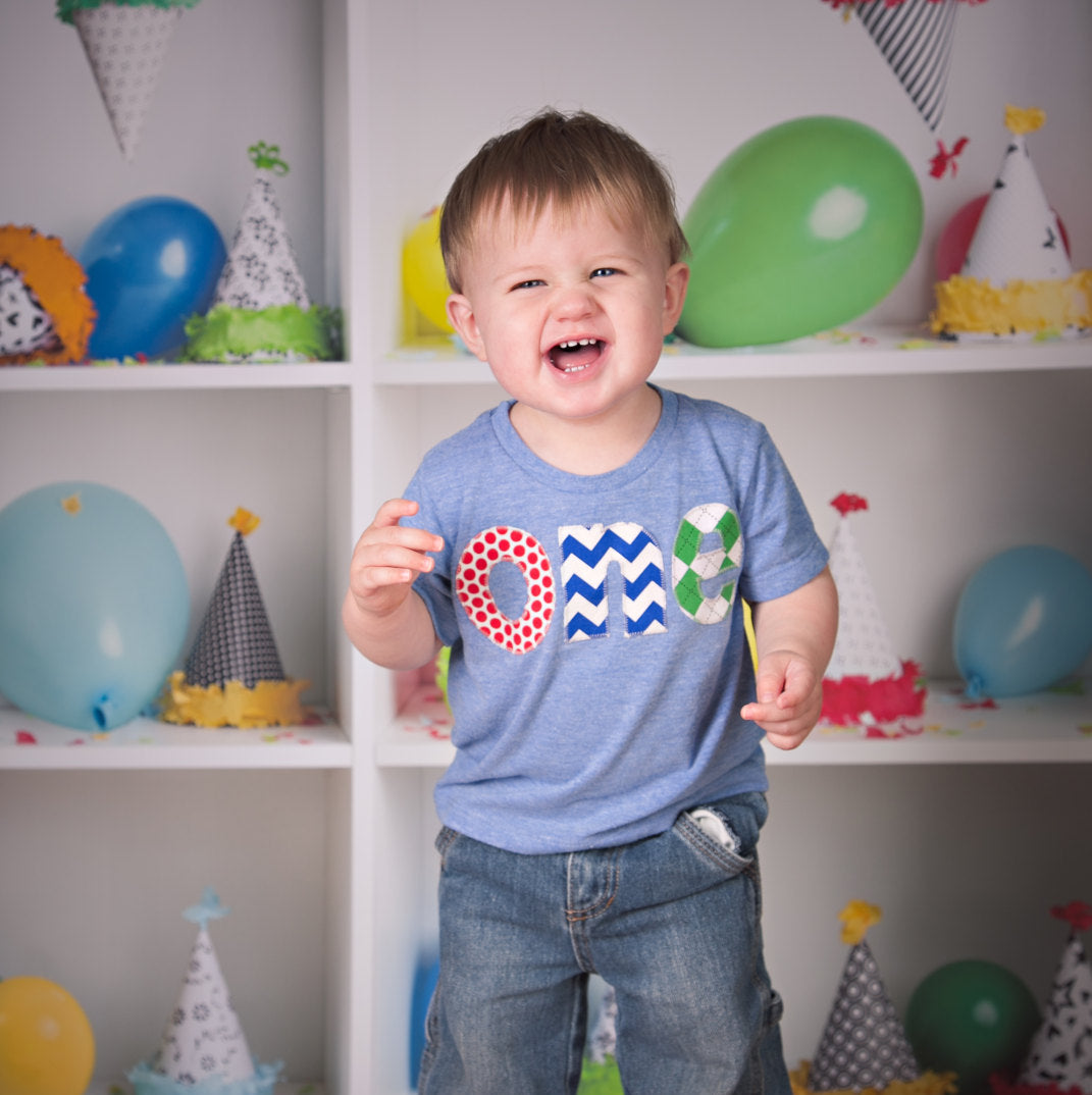 Cake Smash Birthday Shirt one red dots royal chevron green argyle boys 1st athletic blue Birthday Shirt first birthday primary colors