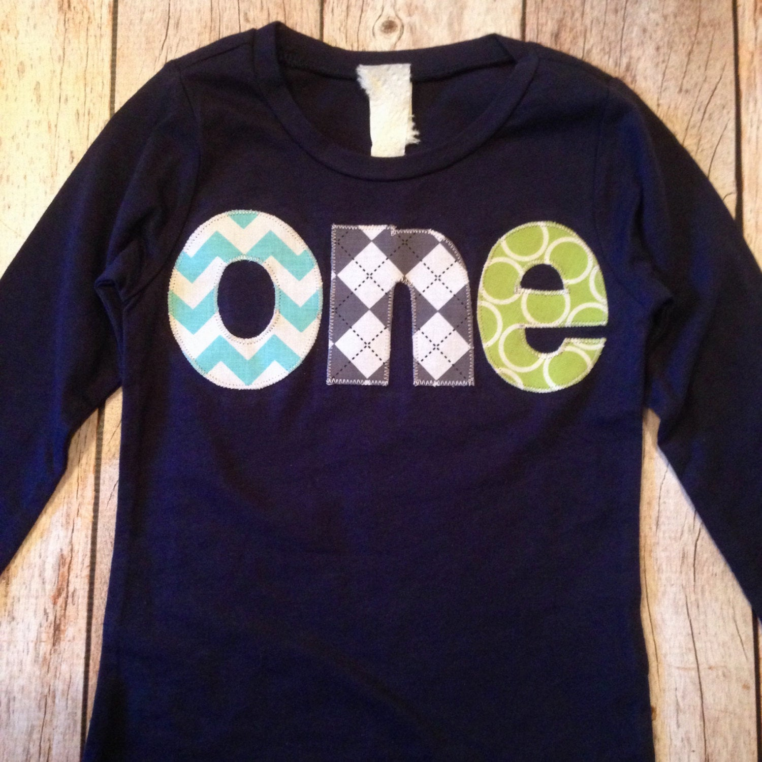 Navy green turquoise  Birthday Shirt boy aqua blue grey lime green argyle chevron Boys first outfit Party onderland one 1st 1 year old boy