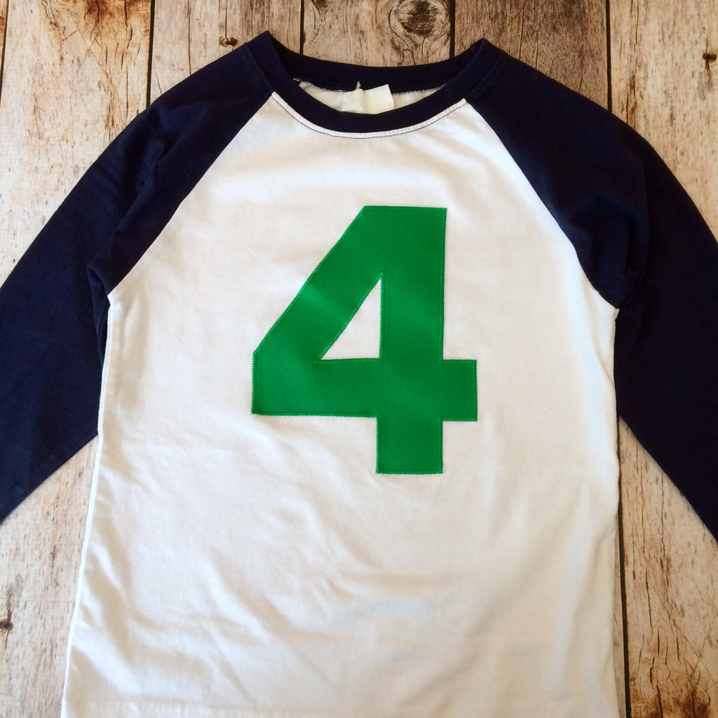 5th five boys Birthday shirt NAVY blue and White Baseball Raglan kelly green T Shirt- 1st, 2nd, 3rd Any Birthday 1 2 3 4 5 6 7 8 9 sport