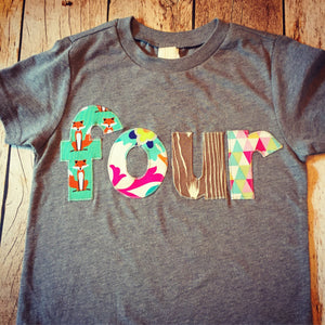 Tops Tees Deer 4th Birthday Shirt Four Ever Wild Boy 4 Year Old