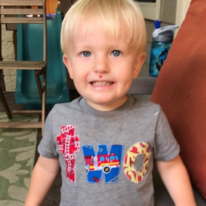 Firetruck birthday shirt, boys birthday shirt, party outfit, fire truck birthday, boys fire truck shirt, fire engine, gift, toddler