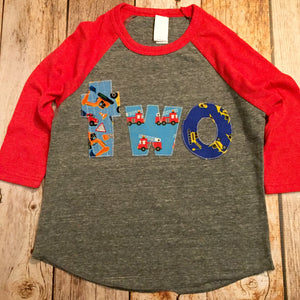 Fire truck birthday shirt, boys birthday shirt, party outfit, fire truck birthday, boys fire truck shirt, fire engine, gift, toddler
