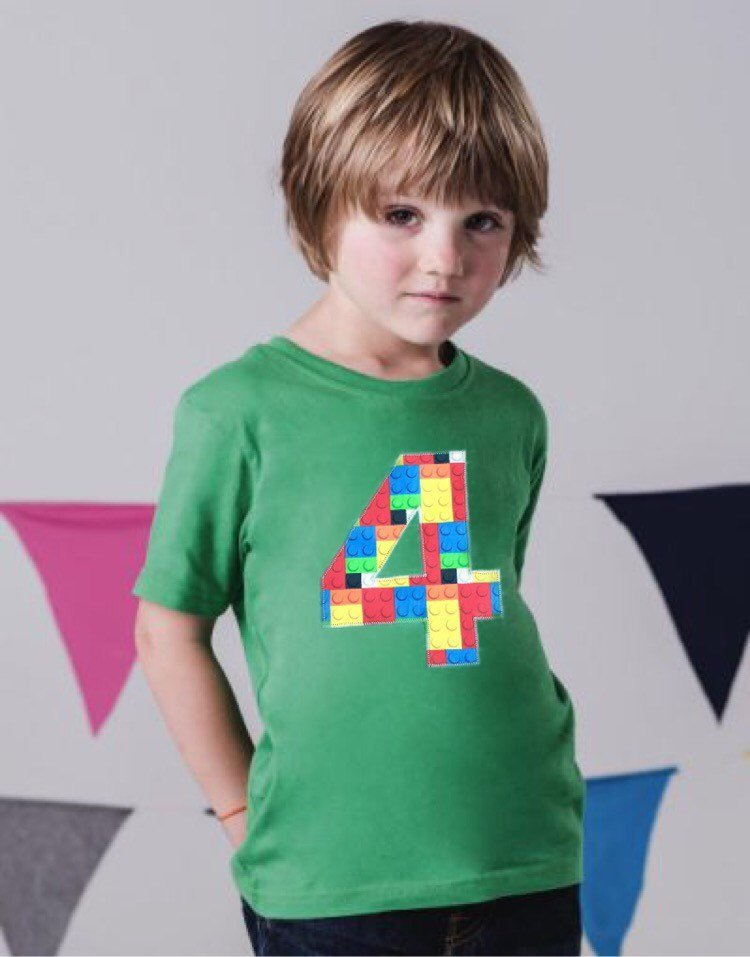 4 green Building brick shirt, four construction blocks birthday outfit, 1 2 3 4 5 Birthday Shirt, 4th primary color blue red yellow plastic