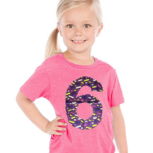 legos building bricks | fabric applique number | pink shirt | purple shirt