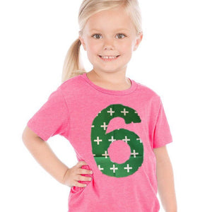 green swiss cross on pink Birthday shirt