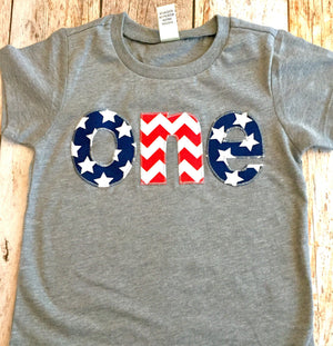 Flag Birthday Shirt, stars and stripes 1st birthday outfit, red white and blue, American USA America nautical, 4th of July, Memorial Day top