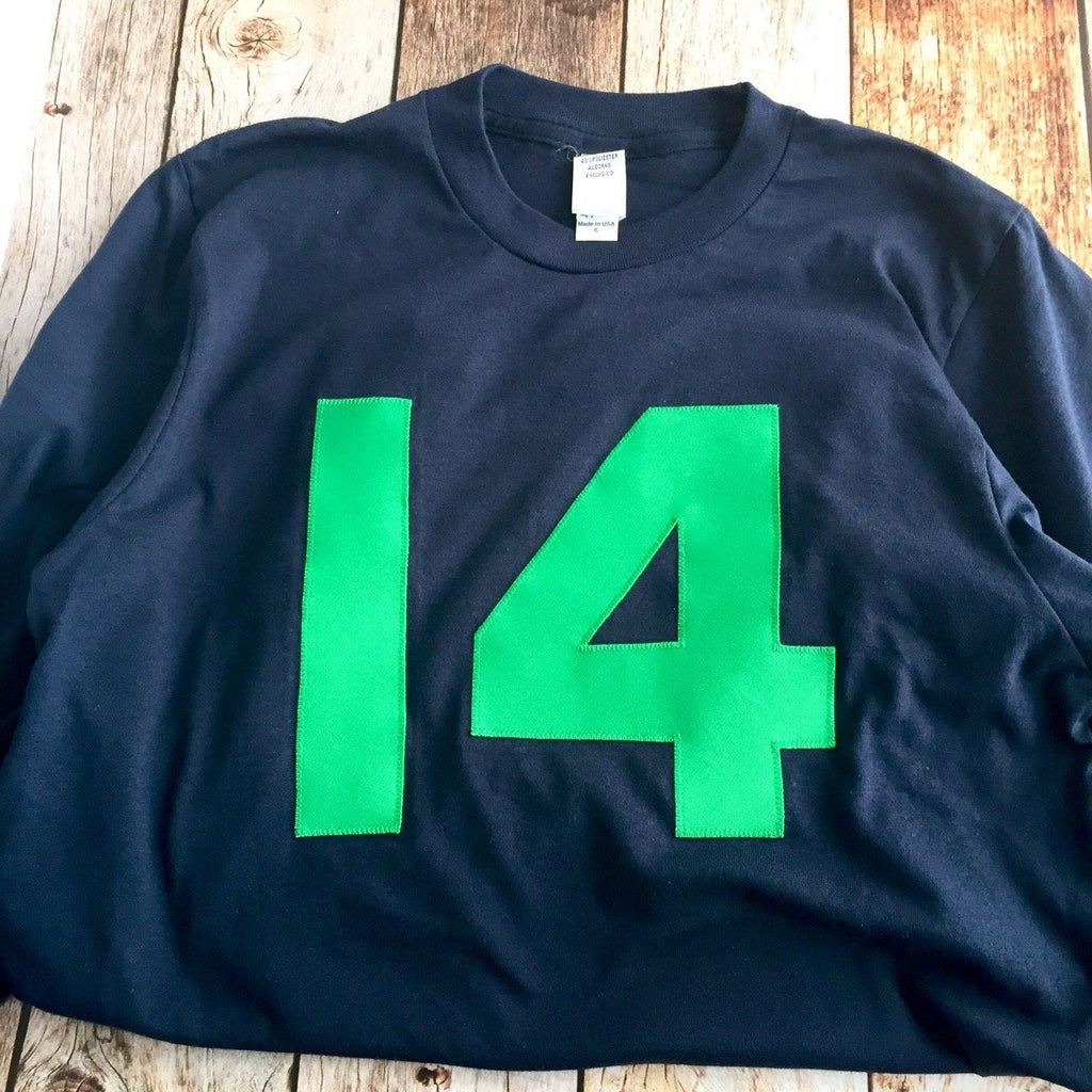 40th birthday gifts for women | 21st birthday gift | 14th birthday  | Navy Green Birthday Shirt Long Sleeve | custom design