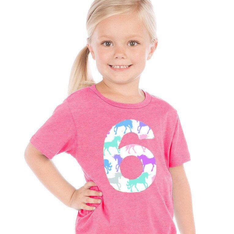 unicorn Birthday shirt, rainbow party outfit, invitation, pink purple girl, 6th, six, 1 2 3 4 5 6 7 8 year old 1st 2nd 3rd 4th 5th 7th 8th