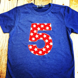 Red star Birthday Shirt, 5th Birthday boy, patriotic Boys First outfit,  1 2 3 4 5 6 7 8 9 year old, military, army, 4th of July, soldier