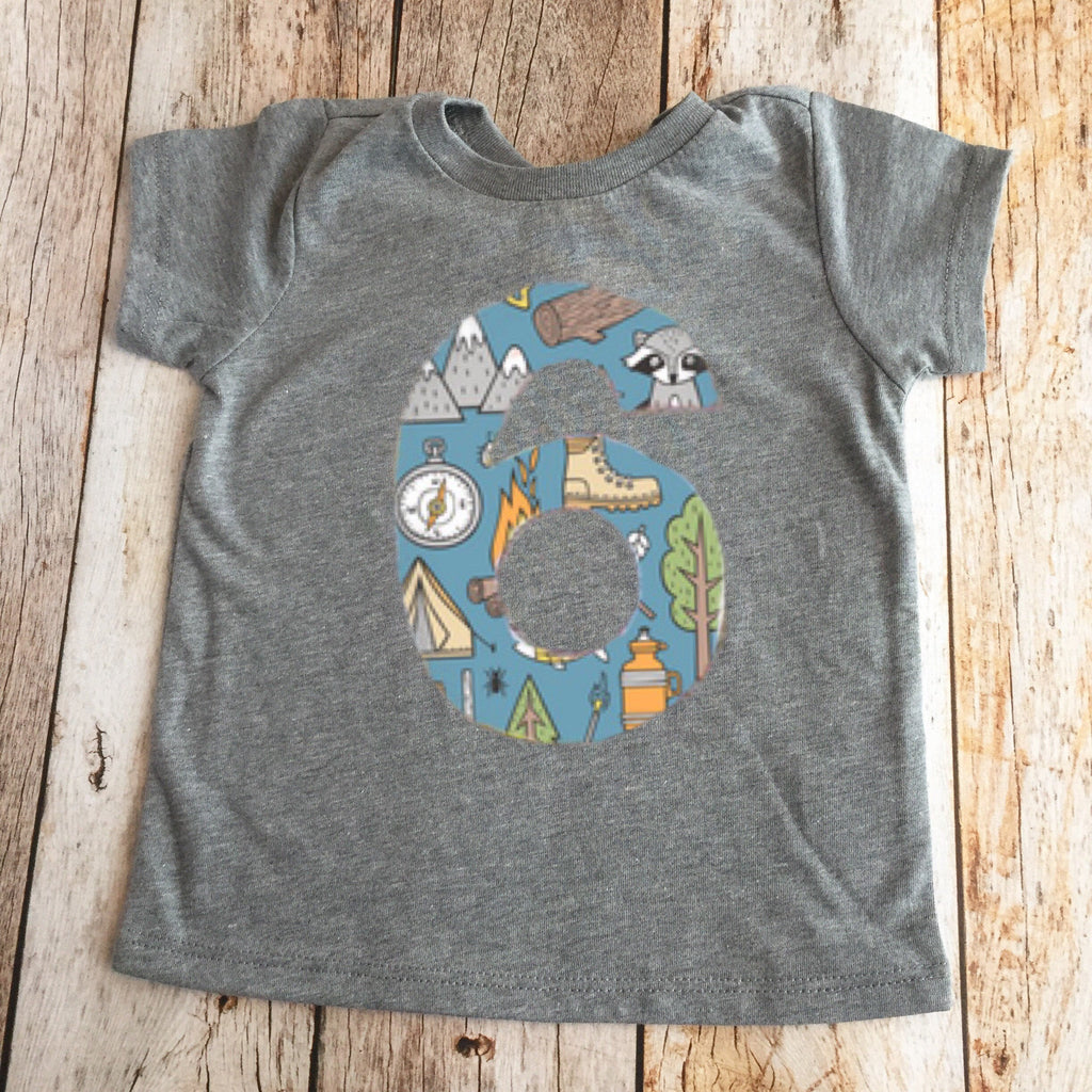 camping scout birthday shirt fishing smores archery boys 1st compass tent raccoon scout 1 2 3 4 5 6 7 8 9 forest animal campfire canoe