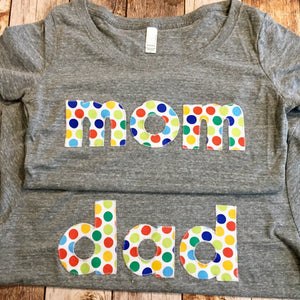 mom dad shirt, matching set for birthday party, Big Brother little sister big bro lil sis grandma granny grandpa papa mom dad birthday shirt