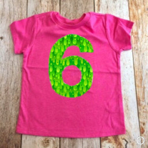 Slime Birthday shirt, girls rainbow party outfit, pink lime green girl, 6th, six, 1 2 3 4 5 6 7 8 year old 1st 2nd 3rd 4th 5th 7th