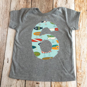 Fishing lures birthday shirt, outfit boys, boat fish nautical anchor, 1 2 3 4 5 6 7 8 year old, 1st 2nd 3rd 4th 5th 6th 7th 8th