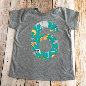 Zoo birthday outfit shirt, jungle 3 for 3rd boys 1 2 3 4 5 6 7 8 year old third three animals giraffe elephant