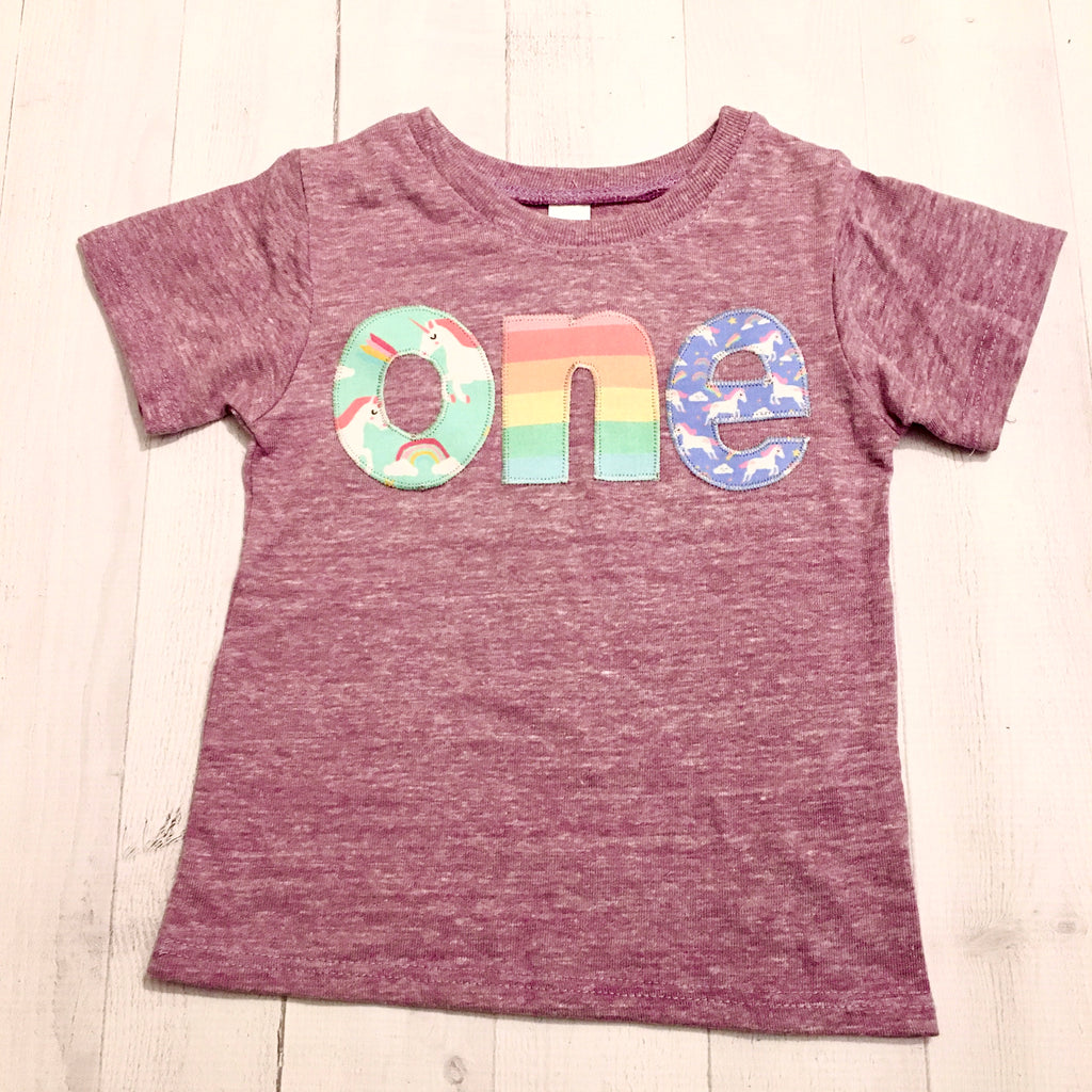 first one Rainbow unicorn birthday shirt, purple, 1st outfit girl, 1 year old, cake, pink aqua, 1 2 3 4 5  2nd 3rd 4th 5th one two three