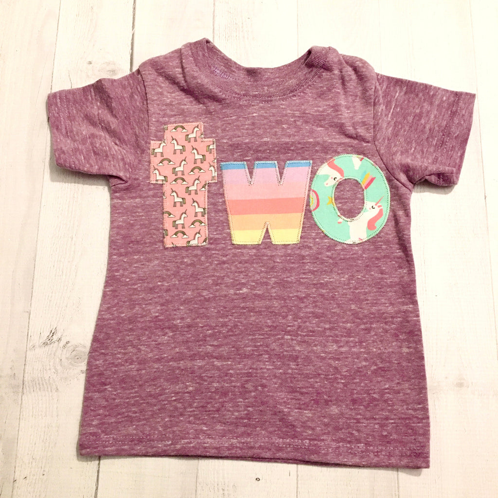 2 two unicorn birthday shirt, 2nd purple outfit girl, 2 year old, cake, pink aqua, 1 2 3 4 5  1st 3rd 4th 5th one three unicorn