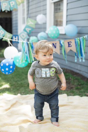 one birthday shirt boy 1st first short sleeve shirt navy blue dots aqua chevron lime green argyle invitation cake smash favor banner
