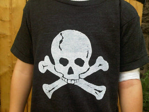 Hip and Cool Skull T Shirt Pirate Theme Birthday Party Shirt