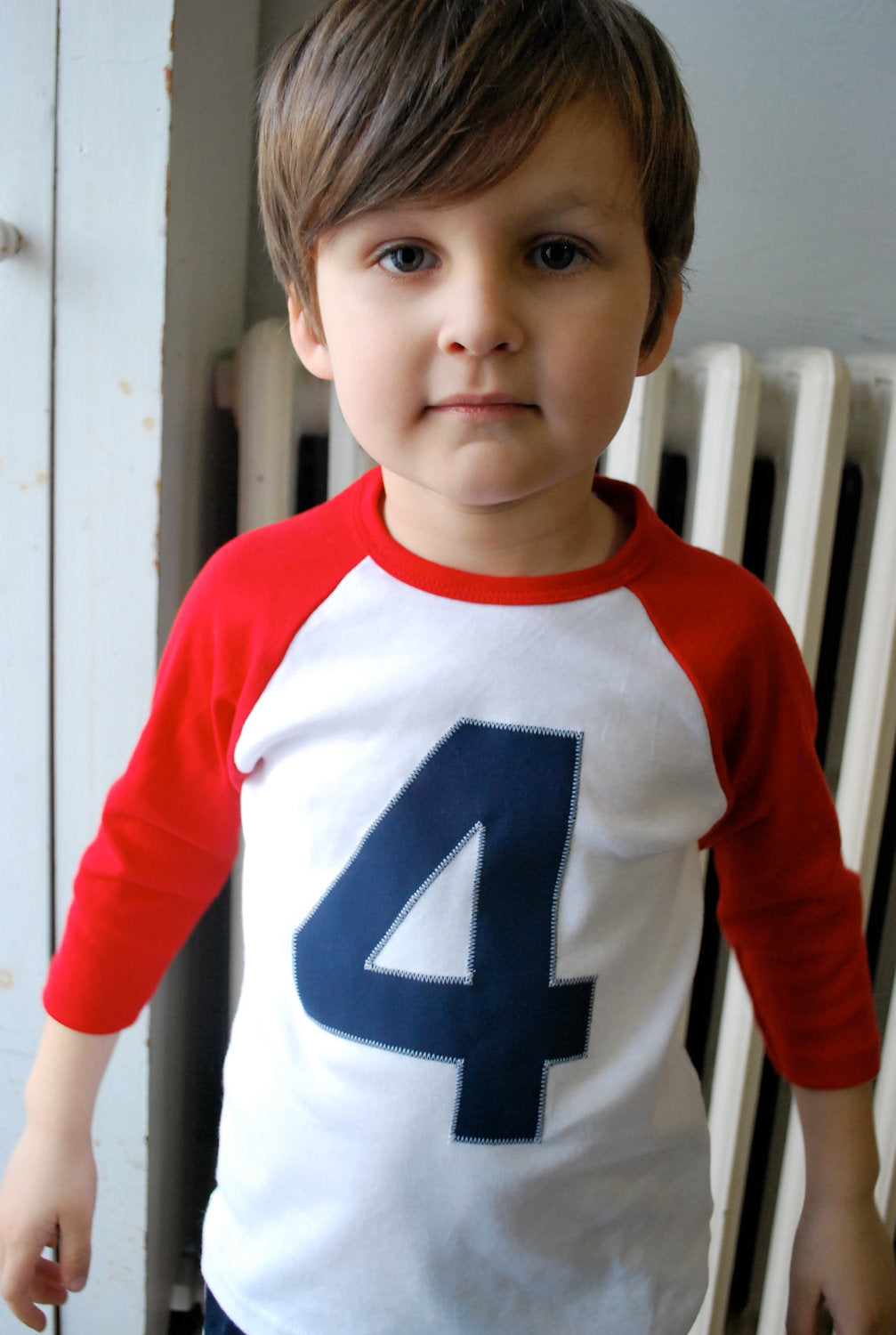 Red and White Raglan Birthday Shirt for Super Cute Future Pilots 3 year old boys 3rd birthday shirt third birthday three year old