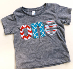 Aqua red birthday shirt one circus birthday theme in turquoise teal blue triblend grey for boys 1st Birthday Shirt boys first birthday shirt