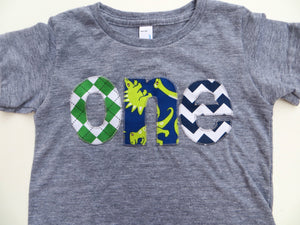Birthday Shirt one shirt argyle, dinosaur, chevron for boys 1st Birthday Shirt