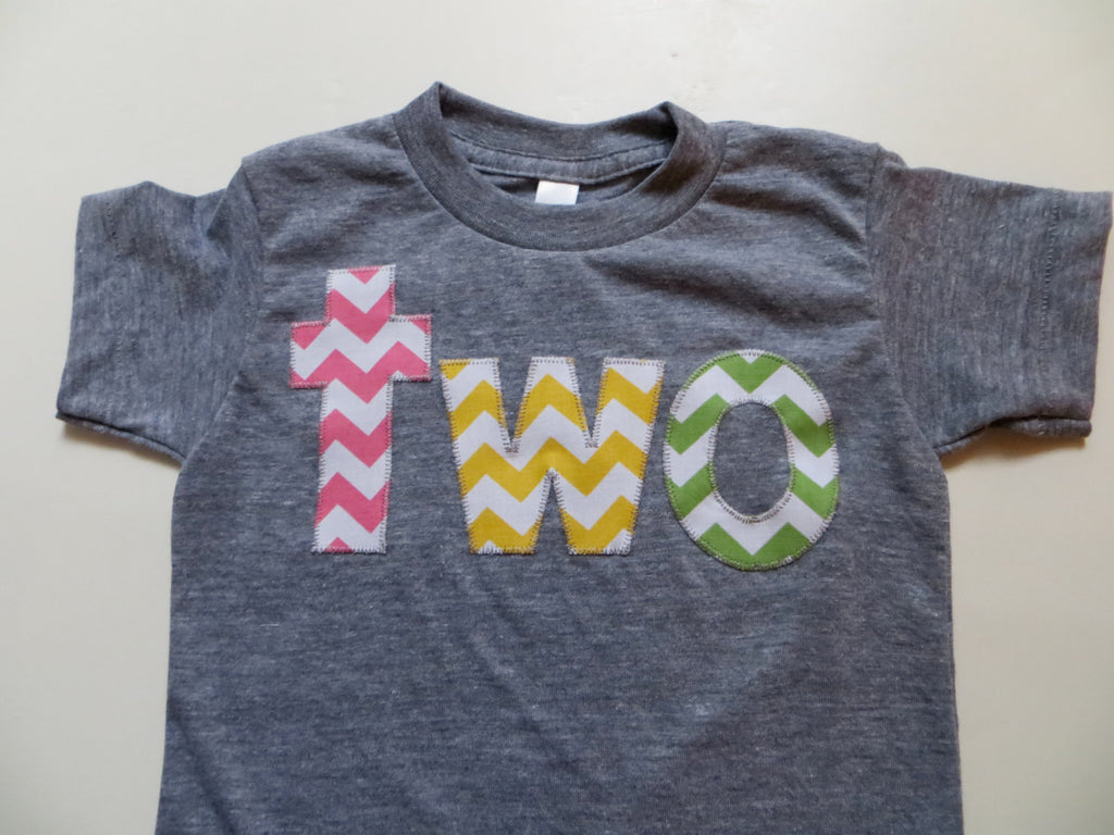 Two For 2nd Birthday Chevron Number Any